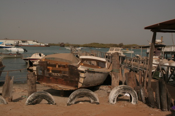 alter Hafen in Gambia